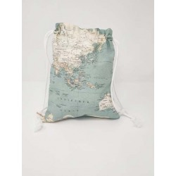 Mochila Grande Mapamundi Azul